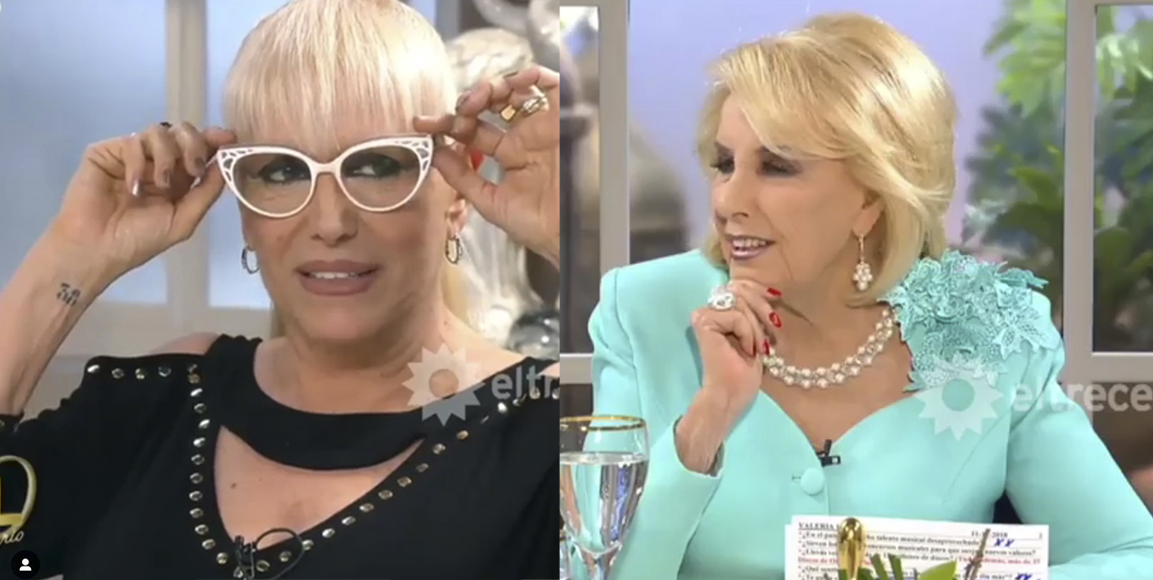 Tiffany en la mesa de Mirtha Legrand